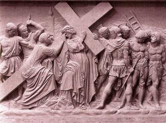 Sixième station, Véronique essuie le visage de Jésus