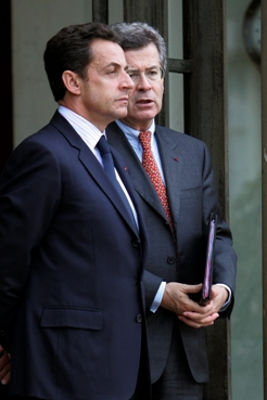 Nicolas Sarkozy et Jean-David Levitte