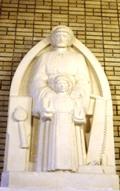 Statue de Joseph le Charpentier en l'église Saint-Léon, Paris XV<sup>e<\/sup>. Sculpture de Jean Topin.