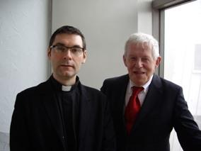 Fr. Renaud Escande, o.p, et le professeur Jean de Viguerie.