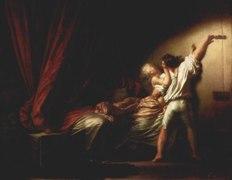 The Bolt by Fragonard (1732-1806), Louvre Museum.