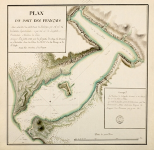 Plan du Port des Français, par Blondéla, 1786  - Centre Historique des Archives Nationales © MnM\/A. Fux