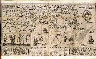 Carte géographique de la Nouvelle-France, dessinée par Samuel de Champlain en 1612
