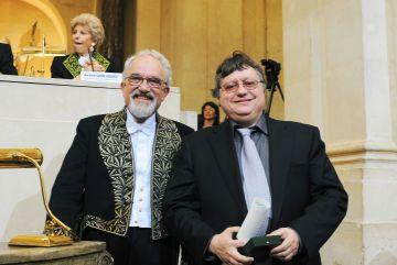 Jean Dercourt et Yves Frégnac, sous la Coupole le 12 juin 2008
