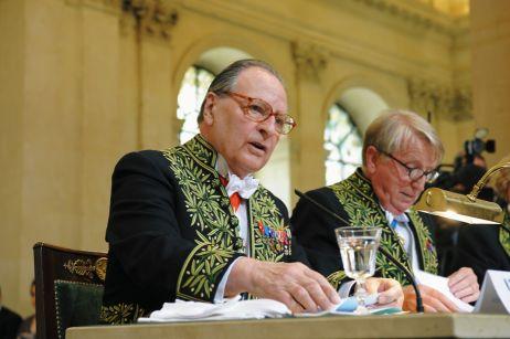 Gabriel de Broglie et Jean-François Jarrige, sous la Coupole le 11 juin 2008