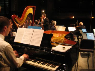 Les musiciens de l'Orchestre Pasdeloup en répétition, 12 avril 2008