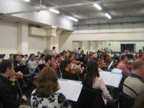 L'Orchestre Pasdeloup en répétition au Théâte du Châtelet, 10 avril 2008