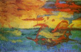 Coucher de soleil sur l'Adriatique, 1910