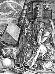 "Albert Dürer: ""Melancolia I"". Burin sur cuivre. 1514."