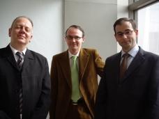 Jean-Baptiste Bour, Pierre Kerbrat, Yves Bruley, avril 2008
