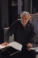 Placido Domingo, répétitions de l'opéra The Fly, juin 2008