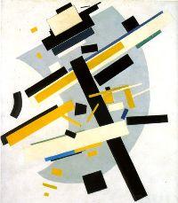 Malevitch, Suprématisme Supremus N°58 avec jaune et noir, 1916