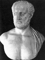 Thucydide  (né vers 460 av. J.-C., mort peut-être assassiné entre 400 av. J.-C. et 395 av. J.-C.)