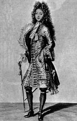 Louis Auguste de Bourbon, duc du Maine, duc d'Aumale, prince de Dombes ( 1670- 1736 )