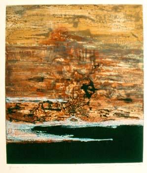 Zao Wou-Ki,  Eau forte, 1963