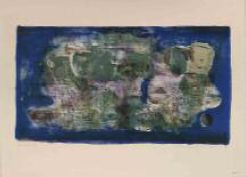 Zao Wou-Ki, Ville engloutie, 1956, lithographie