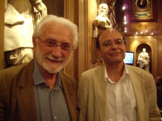 L'académicien Lucien Clergue et Jean-Louis Marignier, Académie des beaux-arts, 25 juin 2008