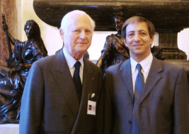 Jean Cluzel, président de Canal Académie, et Michel Boiron (de gauche à droite)