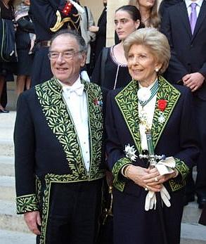 Philippe Beaussant et Hélène Carrère d'Encausse de l'Académie française, le 23 octobre 2008, Institut de France