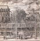 Gravure d'Erik Desmazières de l'Académie des beaux-arts