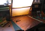 Plaque de cuivre, atelier de Catherine Gillet