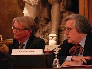 Jean-François Jarrige et Jean-Noël Robert, Académie des inscriptions et belles-lettres, 23 mai 2008