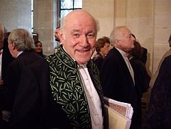 Pierre Rosenberg de l'Académie française, le 23 octobre 2008, sous la Coupole de l'Institut de France