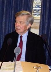 Jean-Denis Bredin de l'Académie française, à l'Académie des sciences morales et politiques, le 29 septembre 2008