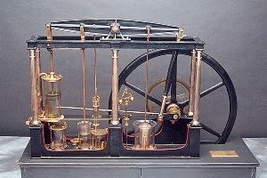 La machine à vapeur de James Watt (1736-1819), mise au point à partir de 1769