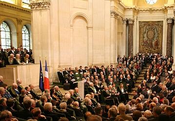 Séance solenelle de l'Académie des sciences morales et politiques, le 7 octobre 2008, sous la Coupole de l'Institut de France