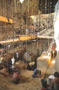 Dans la grotte de Tautavel
