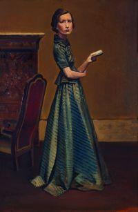 Balthus, Portrait de femme en robe bleue, 1935