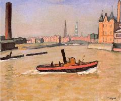 Le Port de Hambourg, d'Albert Marquet 1909