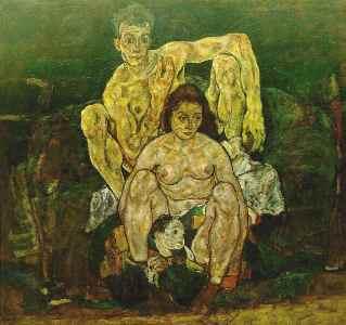 Egon Schiele La Famille, 1918. Huile sur toile.