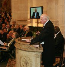 Glen Bowersock, sous la Coupole de l'Institut de France, le 21 novembre 2008