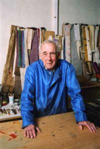 Jean Cortot de l'Académie des beaux-arts, dans son atelier, avril 2008