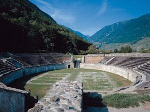Amphithéâtre romain IIe-IVe siècle ap. J.-C.) à Martigny