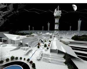 Image du projet de Vincent Champier,  Le Nouvel Etablissement Humain, Le trait d'union architectural  , 1<sup>er<\/sup> Prix du Grand Prix d'Architecture 2008