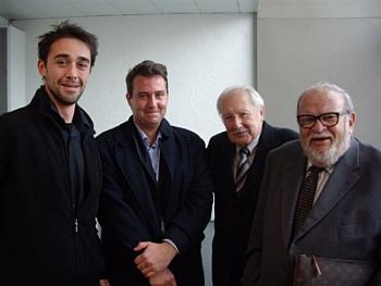 Vincent Champier, Fabrizio Esposito, Claude Parent, Michel Folliasson, le 23 octobre 2008 (de gauche à droite)
