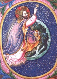 Dieu créant les étoiles, Sano di Pietro