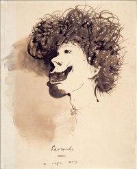 Gavroche à 11 ans. Un dessin de Victor Hugo. Plume et lavis d'encre brune