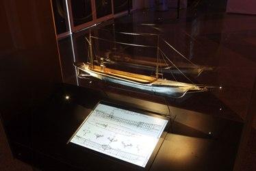 Maquette de bateau en aluminium, invention d'Alfred Nobel
