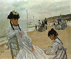 Sur la plage à Trouville (1870-1871), Claude Monet
