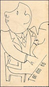 Francis Poulenc croqué par Jean Cocteau
