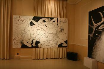 Violence II,  bois acrylique (190\/339), 2008