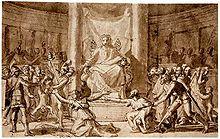 Le jugement de Salomon par Nicolas Poussin.