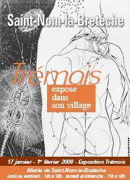"""Affiche de l'exposition """"Trémois exose en son village"""", BAC Saint-Nom-la-Bretèche, 2009, Couple à l'ADN"""