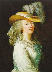 Madame du Barry. Portrait par Élisabeth Vigée Le Brun (1781).