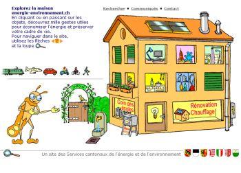 Page d'accueil du site www.energie-environnement.ch