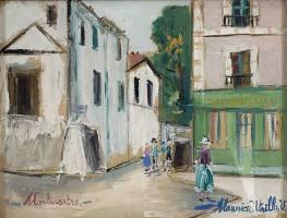 La Belle Gabrielle Montmarte de Maurice Utrillo